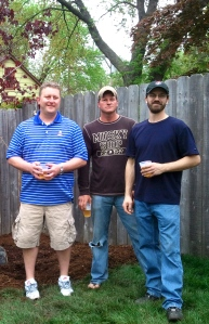 Jimmy, Matt and Jason at the tree planting
