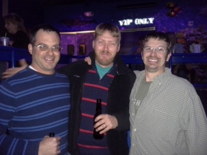 Mike, Andy and Jason at my 32nd birthday party in the Dells