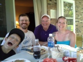 All of us at Dad's house