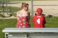 Vince and I talking baseball strategy (haha)