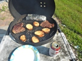 Jason doing some sunday night grilling