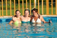 Sarah, myself and Kristin enjoying some pool weather