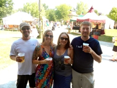 Jason, myself, Amy, and Andy at the Ren Faire