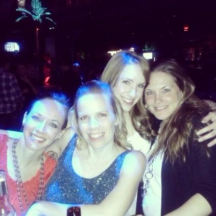 Sarah, myself, Alex and Terrisa