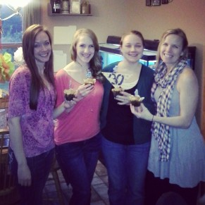 Sarah, Alex, Amy and Myself for Amy's surprise 30th