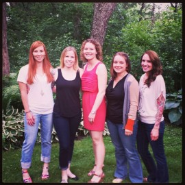 The bridesmaids, Laura, Kelly, Amy and Alex (Terrisa and Sarah not pictured)