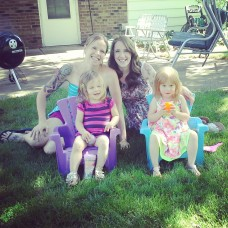 The girls at Dad's for father's day